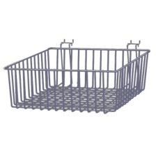 "Grand & Benedicts 289-MB12-12-4C Slanted 12 x 12"" Wire Basket"
