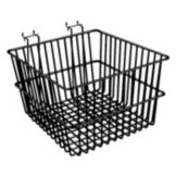 Wire Basket, Black, 12 x 12 x 8