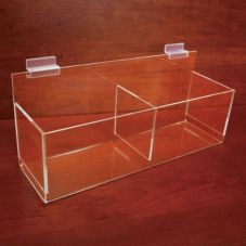 Grand & Benedicts 226-2421 Slatwall Acrylic Double Pocket Bin