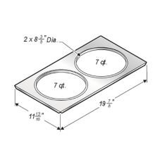 Wells Manufacturing 20176 Dual 7 Qt Insert Adapter Plate for SMP