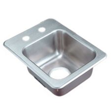 "S/S 2-Hole Drop-In Bar Sink, 13"" x 17"" x 6"""
