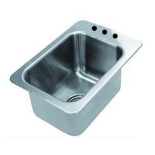 Advance Tabco DI-1-10 K-52OMIT S/S 13 x 19 x 10 Sink Without Faucet