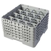 "Cambro 16S958151 Soft Gray 16 Compartment 10-1/8"" Glass Rack - 2 / CS"