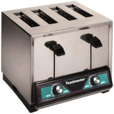 Toastmaster TP424 208/240V Standard 4 Slice Pop-up Bread Toaster