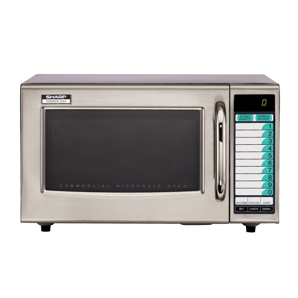 Sharp Microwaves R21LVF 1000W Light Duty S/S Microwave Oven