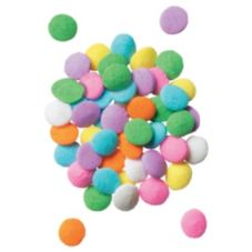 DecoPac 9500 Pastel Colored Round Confetti - 1 / BX