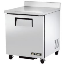 True TWT-27F Solid Door 2-Shelf 6.5 Cu Ft Worktop -10°F Freezer