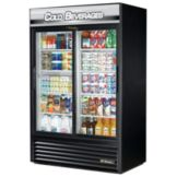 True® Black Cold Beverage Refrigerator Merchandiser, 45 Cubic Ft