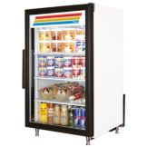 True® GDM-7-LD White Glass Door 7 Cu Ft Countertop Refrigerator