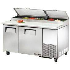 True TPP-60 2-Door 4-Shelf S/S Pizza Prep Table With White Interior