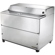 True® S/S 24.5 Cu Ft Refrigerated Milk Cooler with S/S Interior