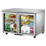 True TUC-48G Glass Door 4-Shelf S/S 12 Cu Ft Undercounter Refrigerator