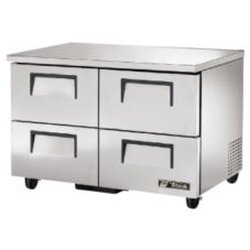 True® TUC-48F-D-4 S/S 2-Drawer 12 Cu Ft Undercounter Freezer