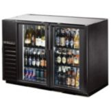True TBB-24GAL-48G-LD Glass Door Black Back Bar Cooler f/ (48) 6-Packs