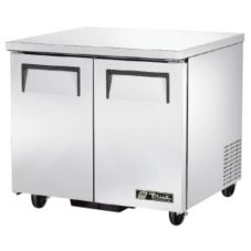 True TUC-36 S/S 8.5 Cu Ft Undercounter Refrigerator With 4 Shelves