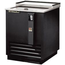 True TD-24-7 Black Deep Well Bottle Cooler For 6 Cases / 12 Oz. Cans