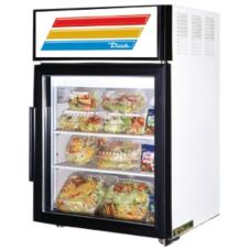 True® White Glass Door Countertop Refrigerator, 5 Cubic Ft