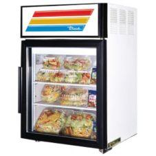 True® GDM-5-LD White Glass Door 5 Cu Ft Countertop Refrigerator