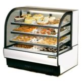 True® White Curved Glass Refrigerated Bakery Case, 27.4 Cubic Ft