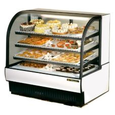True TCGR-50 White Curved Glass 27.4 Cu Ft Refrigerated Bakery Case