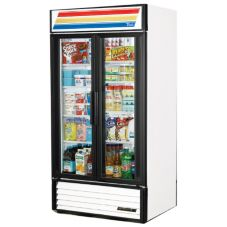 True® White Glass Door Refrigerator Merchandiser, 33 Cubic Ft