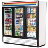 True® GDM-69 White Glass Door 69 Cu Ft Refrigerator Merchandiser