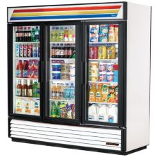 True GDM-69-LD White Glass Door 69 Cu Ft Refrigerator Merchandiser