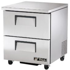 True® TUC-27F-D-2 S/S 2-Drawer 6.5 Cu Ft Undercounter Freezer