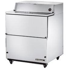 True® 2-Door S/S 13.8 Cu Ft Milk Cooler w/ White Aluminum Interior