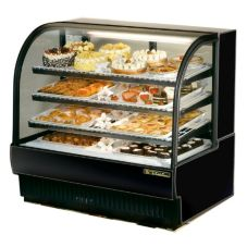 True TCGR-50 Black EXTERIOR 27.4 Cu. Ft. Refrigerated Bakery Case