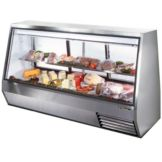True® 3-Sliding Door 2-Half Shelf Double-Duty 46 Cu Ft Deli Case