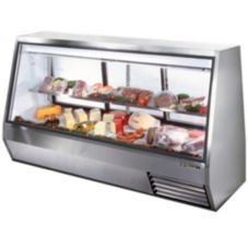 True® TDBD-96-3 3-Sliding Door 2-Half Shelf 46 Cu Ft Deli Case