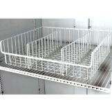 True® White Wire Novelty Basket w/ 3 Dividers