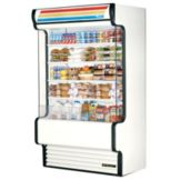 True TAC-48GS White 34 Cu Ft Self-Contained Glass Sided Air Curtain