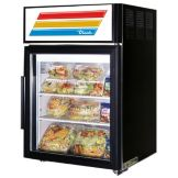 True® Black Glass Door Countertop Refrigerator, 5 Cubic Ft