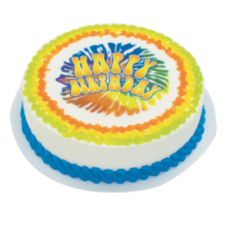 Lucks™ 42287 Edible Image® Tie-Dye Birthday - 12 / BX