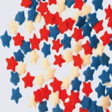 Lucks™ 43417 Red, White, & Blue Star Mix Quins - 1 / BX