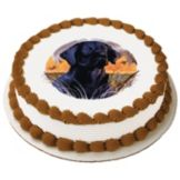 Lucks™ 43550 Edible Image® Black Lab - 12 / BX
