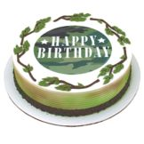 Lucks™ 43613 Edible Image® Camouflage Birthday - 12 / BX