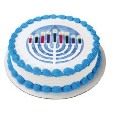 Lucks™ 43649 Edible Image® Menorah - 12 / BX