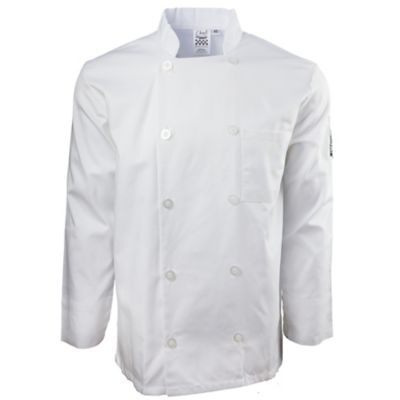 Chef Revival® J100-M Basic White Double Breasted Medium Chef Coat