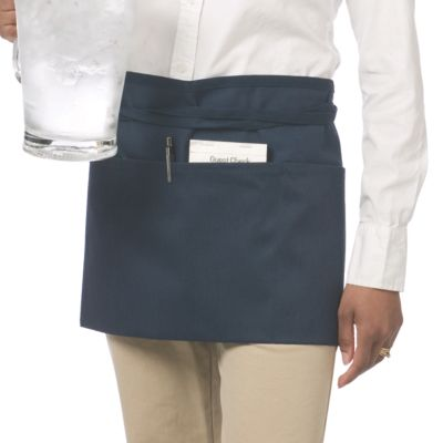 Chef Revival® 605WAFH-NV Navy Blue Front-of-the-House Waist Apron