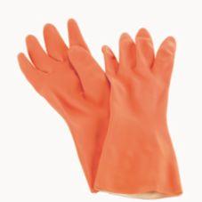 San Jamar® 720-M Flock Lined Medium Orange Glove - Dozen