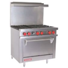 "Vulcan Hart V36 V Series 36"" Gas Restaurant Range with 6 Burners"