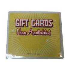 "North Ten TOPPERGIFTCA 3-1/4"" x 4"" Laminated Gift Card Sign"