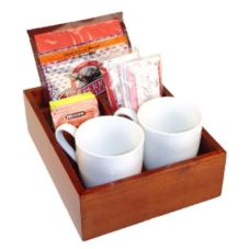 Classic Hotel Woodwork MCFO In Room Coffee Organizer