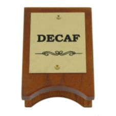 Classic Hotel Woodwork DCSG Wood & Brass Decaf Sign