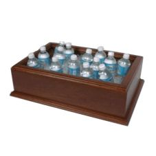 Classic Hotel Woodwork DCDL Mahogany Deluxe Cold Beverage Display