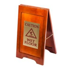 "Mahogany Wet Floor Sign, 24"" x 14"""