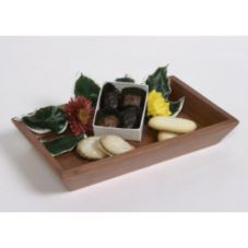 "Classic Hotel Woodwork RMAT 10"" x 6"" Amenity Tray - 6 / CS"
